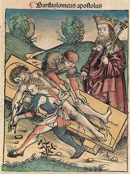 """Illustrazione tratta delle """"Cronache di Norimberga"""" di Hartmann Sche-del (1493). Biblioteca dell'università di Cambridge"""